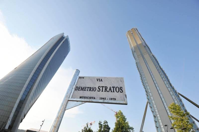 L'intitolazione di una via a Demetrio Stratos nel quartiere CityLife (Newpress)