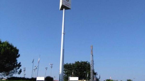 La nuova antenna collocata alla Trave