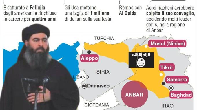 Al Baghdadi, l'infografica (Ansa)