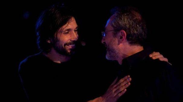 Besana, l'attore Christian Poggioni e il musicista Marco Belcastro