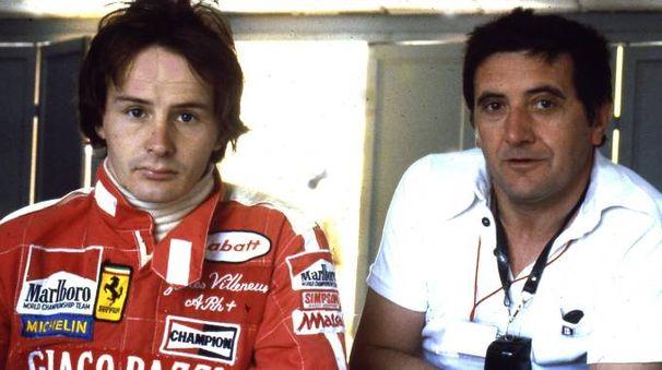 Nino Cassotti in una foto con Gilles Villeneuve nel 1978 (De Pascale)