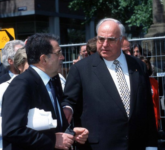 Prodi e Kohl (Imagoeconomica)