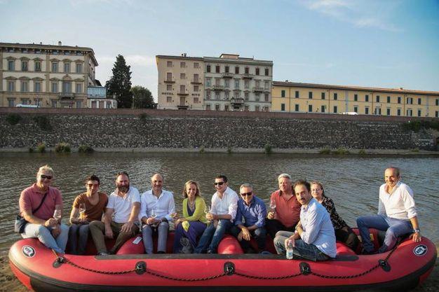 Brindisi sull'Arno (Foto New Press Photo)