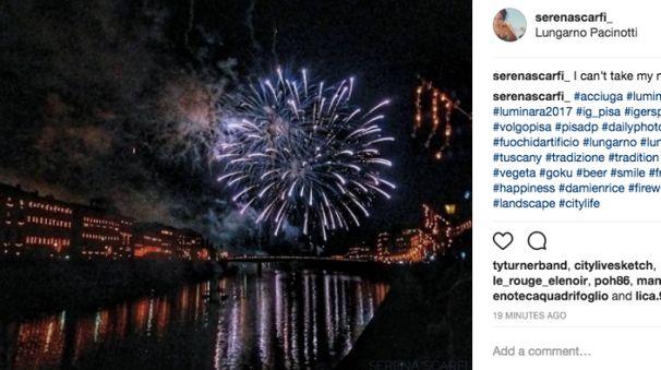 Una delle migliaia di immagini della Luminara su Instagram