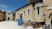 Il paese di Visso abbandonato dopo il terremoto (foto Calavita)