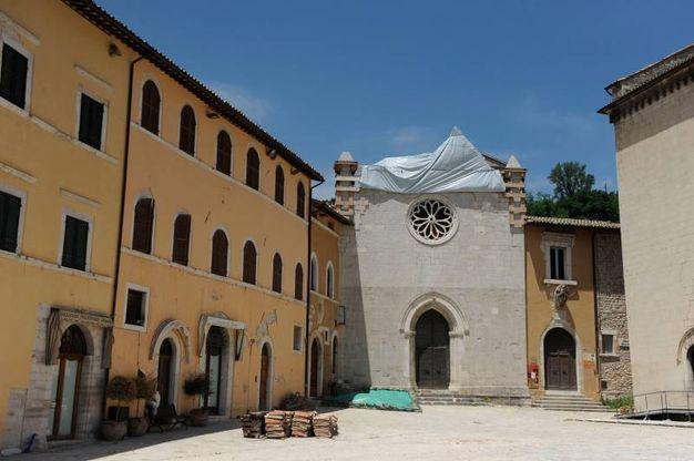 La chiesa crollata (foto Calavita)