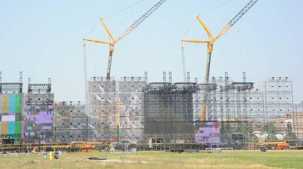 Il palco del concerto  di Vasco Rossi
