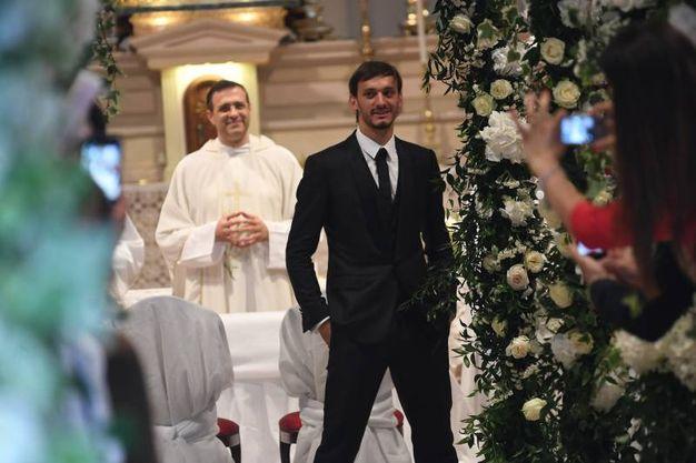 Manolo gabbiadini aspetta Martina all'altare (Foto Schicchi)