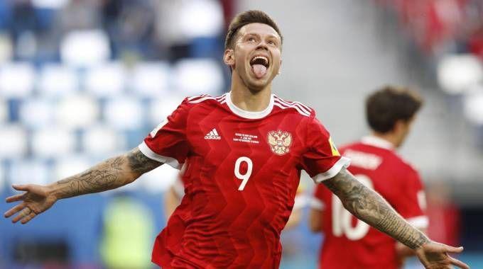 Il gol di Smolov (Ansa)