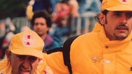 Marco Pantani con Fausto Pezzi, figlio di Luciano