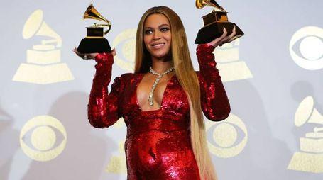 Beyoncé ai Grammy dello scorso febbraio (Lapresse)