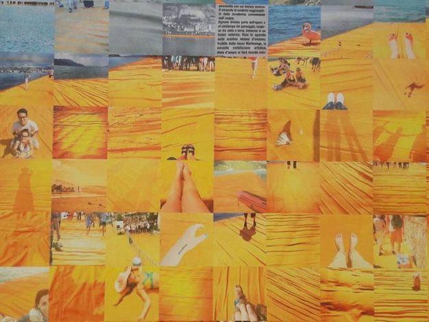 Alcuni dei frame che compongono l'immagine di Christo su The Floating Piers
