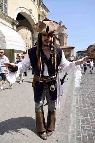 Jack Sparrow dai Caraibi al  FeComics & Games (foto Businesspress)