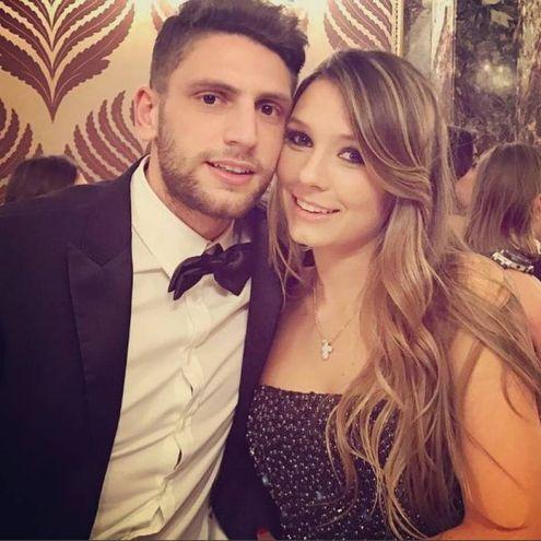 Domenico Berardi, attaccante del Sassuolo, e Francesca Fantuzzi (Instagram)