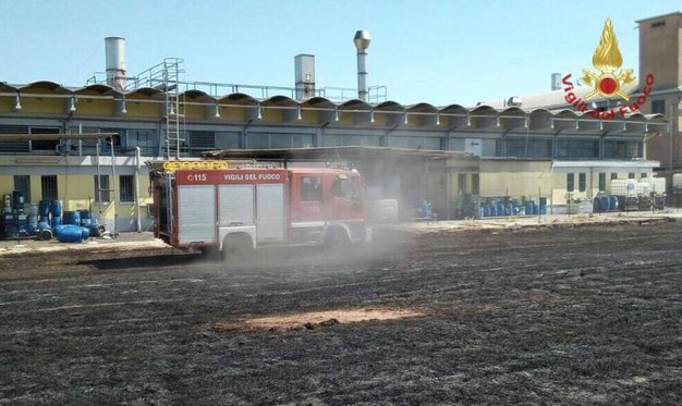Incendio a Santa Croce sull'Arno