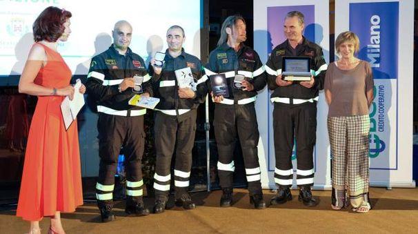 I vigili del fuoco che sono stati nelle zone terremotate