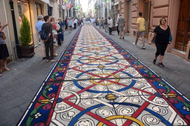 Camaiore, i tappeti di segatura: Sesto Lucchese (foto Aldo Umicini)
