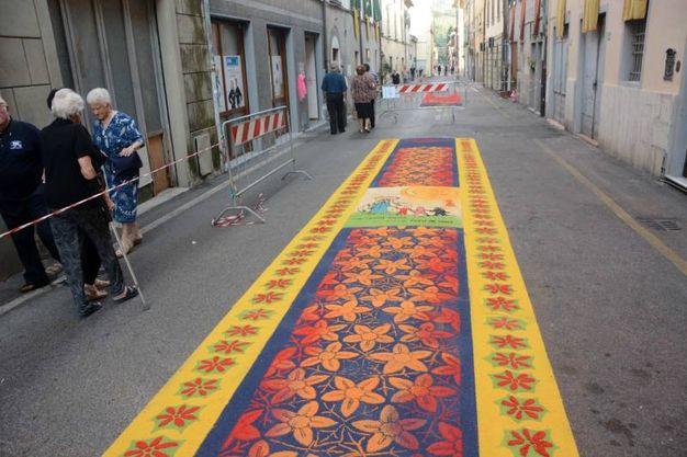 Camaiore, i tappeti di segatura: Oratorio Frati (foto Aldo Umicini)