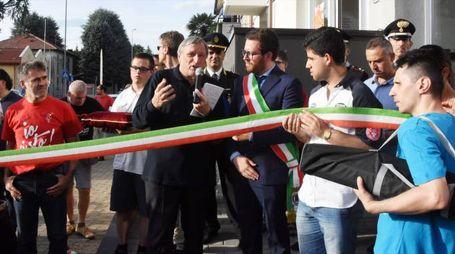 L'inaugurazione a Giussano (Brianza)