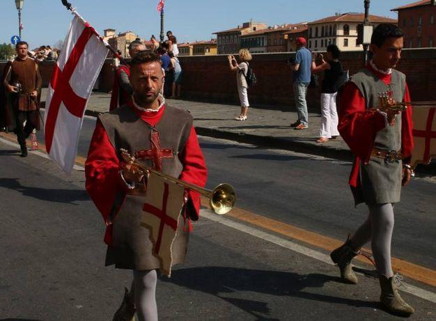 Regata delle antiche repubbliche marinare a Pisa (foto Valtriani)