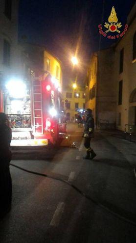 L'intervento dei vigili del fuoco (foto Vigili del fuoco)