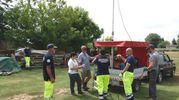 Fasi dell'esercitazione di Protezione Civile svoltasi a Bagnacavallo (Foto Scardovi)