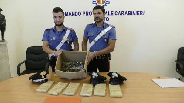 Le monete false sequestrate dai carabinieri (foto Attalmi)