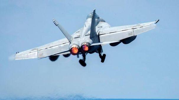 Un F/A-18E Super Hornet (Ansa)