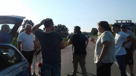 I volontari  sul luogo dell'incidente