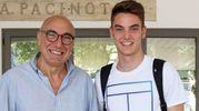 Il vicepreside Roberto Centi con Giulio Maggiore