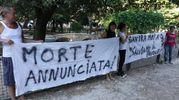 La manifestazione di protesta dopo la morte del pavone (foto Umicini)