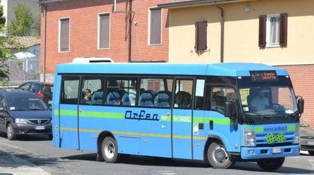 un autobus del servizio provinciale