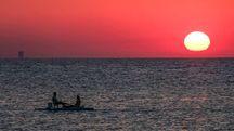 Pesaro, la magia del tramonto sul mare (Fotoprint)