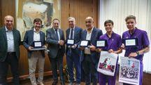 """La premiazione della """"Fiorentina Women's alla Nazione (Germogli)"""