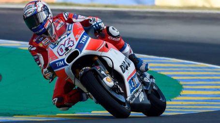 Una Ducati da corsa, in pista