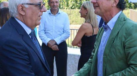 L'ARRIVEDERCI Il presidente del Tribunale Salvatore Laganà con il procuratore Alessandro Crini (foto di Valtriani)