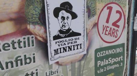 I volantini contro il ministro Minniti