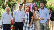 Veronica Vieri presena la sua nuova collezione al Four Season, gruppo di famiglia. Foto Ne