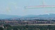 Le Frecce Tricolori sui cieli di Grosseto per le prove