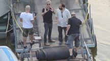 Ligabue a Occhiobello per le riprese del film 'Made in Italy' (foto Donzelli)