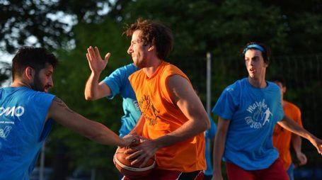 Un'immagine di una delle partite in corso di svolgimento al Polisportivo 'Cimatti' di Roncadello