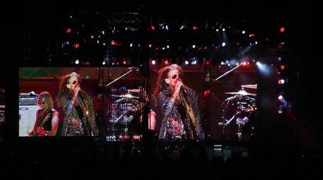 Gli Aerosmith in concerto a Firenze (Tania Bucci/New Press Photo)