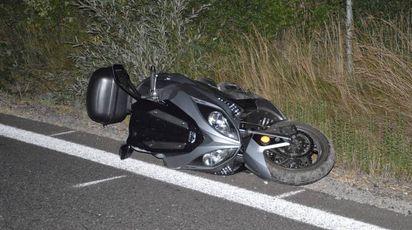 Lo scooter dopo l'incidente a Giussano