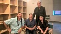 Da sinistra, Leo Yankton, Chase Iron Eyes e Jessica Venturi. In piedi Patrick Allori