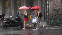 Pioggia a Bologna domenica 25 giugno (foto Schicchi)