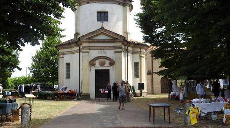 L'ottocentesco santuario della Madonna di Loreto, a Passogatto (Foto Scardovi)