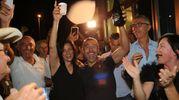 Brindisi della vittoria (foto Petrangeli)