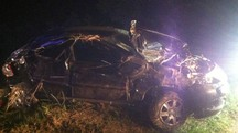 L'auto distrutta nell'incidente (Foto Zeppilli)