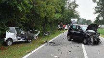 La Fiat 600 e la Panda coinvolte nel terribile scontro