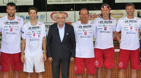 I vincitori, da sinistra Luca Facchetti, Crocetti, Baldassari, Maspero, Olivero, Paganin